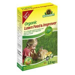 Neudorff Organic Lawn Feed & Improver with Mycorrhiza - 2.5 kg BOX