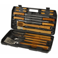 18pc Barbecue Bamboo Set