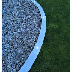 1m EasyEdge Artificial Grass Lighting Edging - Silver - H5cm