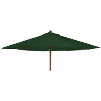 Alexander Rose 2.7m Hardwood Round Garden Parasol - Green