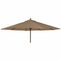 Alexander Rose 2.7m Hardwood Round Garden Parasol - Taupe