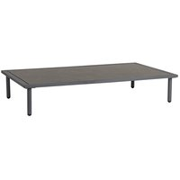 Alexander Rose Beach Lounge Coffee Table - Flint Frame with Laminate Pebble Top