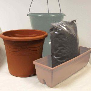 Aquamarine Container - Set of 2 + Compost Kit