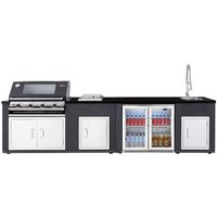BeefEater Artisan Ex-Display Outdoor Kitchen Signature 3000E 4 Burner And Fridge Module