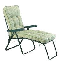 Bracken Outdoors Deluxe Cotswold Stripe Lounger Garden Chair