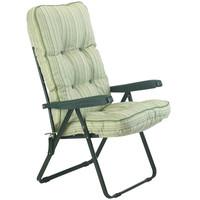 Bracken Outdoors Deluxe Cotswold Stripe Recliner Garden Chair