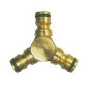 CK Brass Interlock Three Way Hose Connector