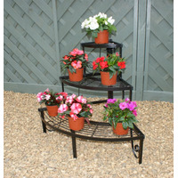 Corner Plant Pot Stand, 3 Shelves