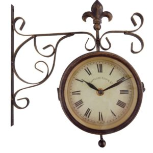 Fallen Fruits Clock & Thermometer on Hanging Bracket