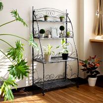Folding Plant Stand - 4 Shelf