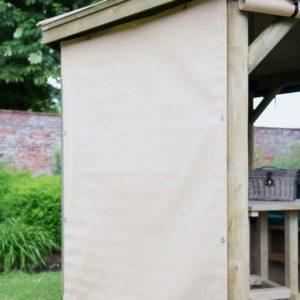 Forest Garden 3.5m Square Wooden Gazebo Curtains - Cream