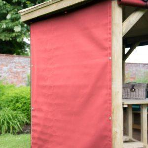Forest Garden 6m Premium Oval Wooden Gazebo Curtains - Terracotta
