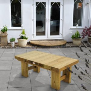 Forest Garden Low Level Sleeper Table 1.2m