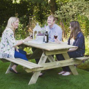 Forest Garden Rectangular Picnic Table - Small