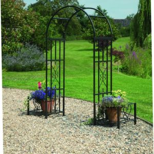 Greenhurst Huntingdon Ornamental Arch and Planters