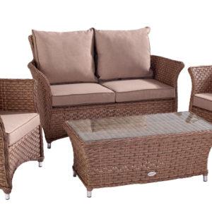 Hartman Heritage 2 Seat Lounge Set (Bark and Sand)