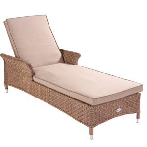 Hartman Heritage Lounger With Cushion (Bark and Sand)