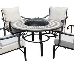 LG Outdoor Casablanca 120cm Lounge Firepit Set