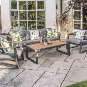 LG Outdoor Roma Aluminium Collection Lounge Set