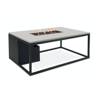 Pacific Lifestyle πpe; Cosiloft 120 Coffee Table & Fire Pit - Black and Grey