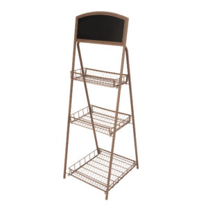 Panacea 3-Tier Rustic Folding Plant Stand With Chalkboard