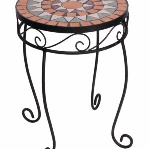 Panacea Rustica Italia Mosaic Tile Plant Stand