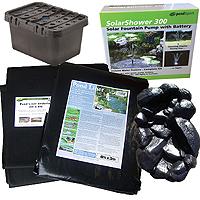 PondXpert EcoFilter 2000 Pond Kit with 4 x 3m Liner, Underlay & Waterfall