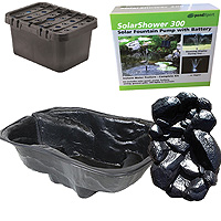PondXpert EcoFilter 2000 Pond Kit with Preformed Pond & Waterfall