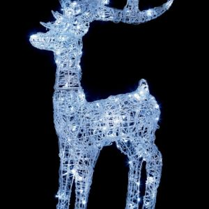 Premier 1.15m Lit Soft Acrylic Reindeer with 160 White LEDs Outdoor Christmas Decorations