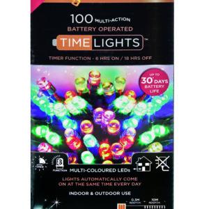 Premier 100 Multi Action Battery LED Christmas Lights (Multi-Colour)