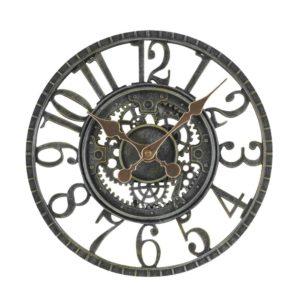 """Smart Garden Newby Mechanical Wall Clock Verdi-Gris Finish 12"""""""