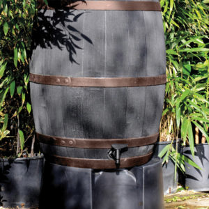 Stewart 235 Litre Oak Effect Water Butt Copper