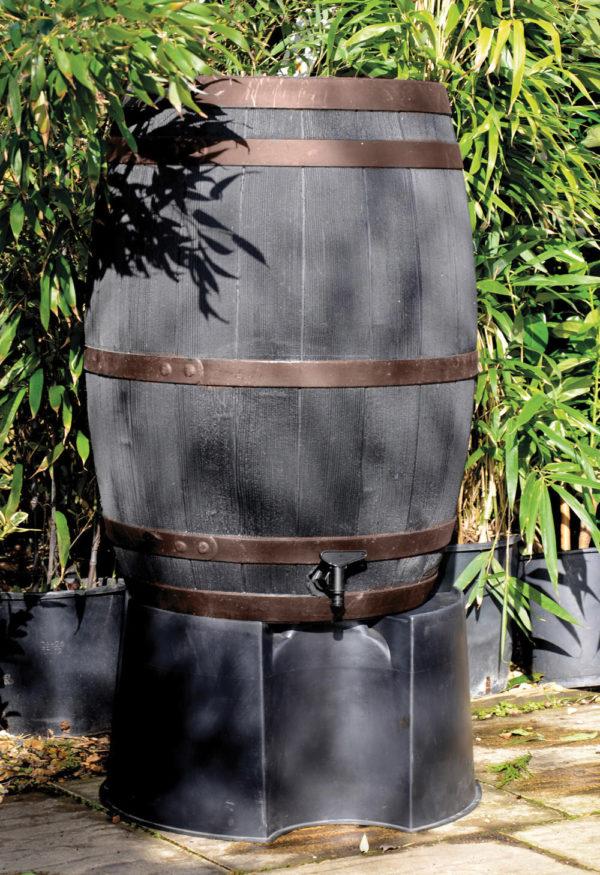 Stewart 235 Litre Oak Effect Water Butt Copper