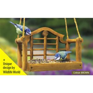 Wildlife World Lutyens Swing Seat Feeder (Brown)