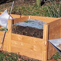 Wooden Compost Bin System Duvet