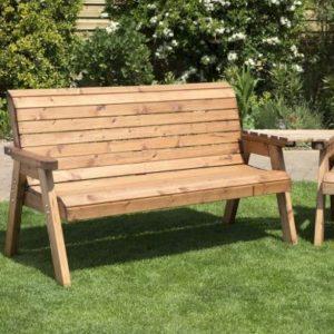 4 Seat Angled Tete-a-tete Companion Love Seat Garden Bench & Table