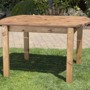 4 Seat Scandinavian Redwood Rectangular Garden Table