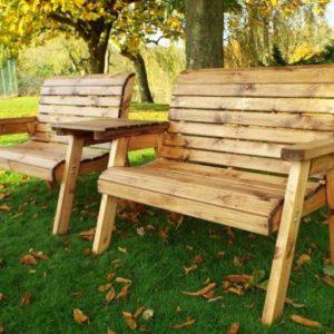 4 Seater Straight Traditional Scandinavian Redwood Garden Bench
