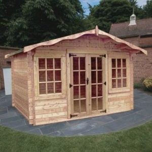 Albany Sheds Charnwood 12' x 10' Apex Wood Garden Summer House