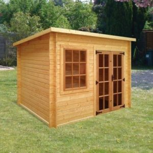 Albany Sheds Charnwood 8' x 8' Pent Wood Garden Summer House