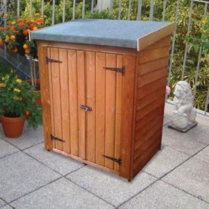 """Albany Sheds Clutterbox 4' x 2'6"""" Pent Overlap Wood Garden Clutterbox"""