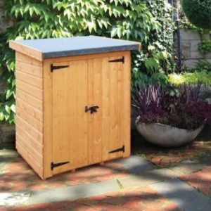 """Albany Sheds Clutterbox 4' x 2'6"""" Pent Shiplap Wood Garden Clutterbox"""