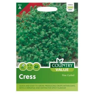 Country Value Cress Fine Curled Seeds