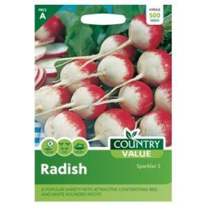 Country Value Radish Sparkler 3 Seeds