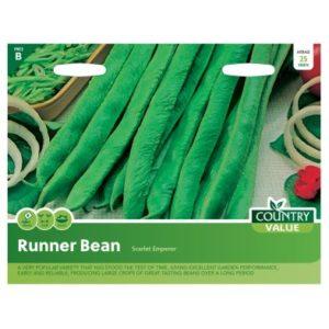 Country Value Runner Bean Scarlet Emperor Seeds