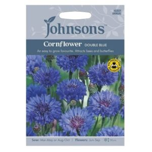 Johnsons Cornflower Double Blue Seeds