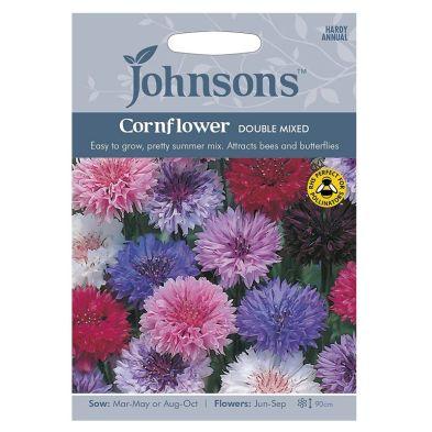 Johnsons Cornflower Double Mixed Seeds