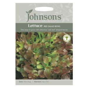Johnsons Lettuce Red Salad Bowl Seeds
