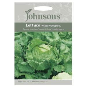 Johnsons Lettuce Webbs Wonderful Seeds