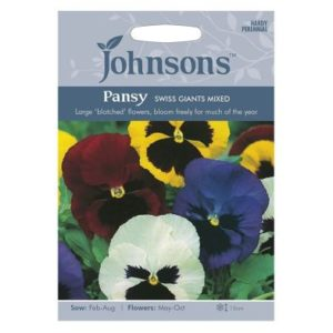 Johnsons Pansy Swiss Giants Mixed Seeds